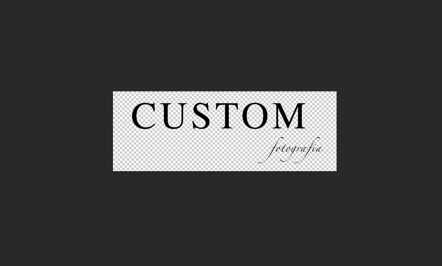 Creando un logo transparente para web