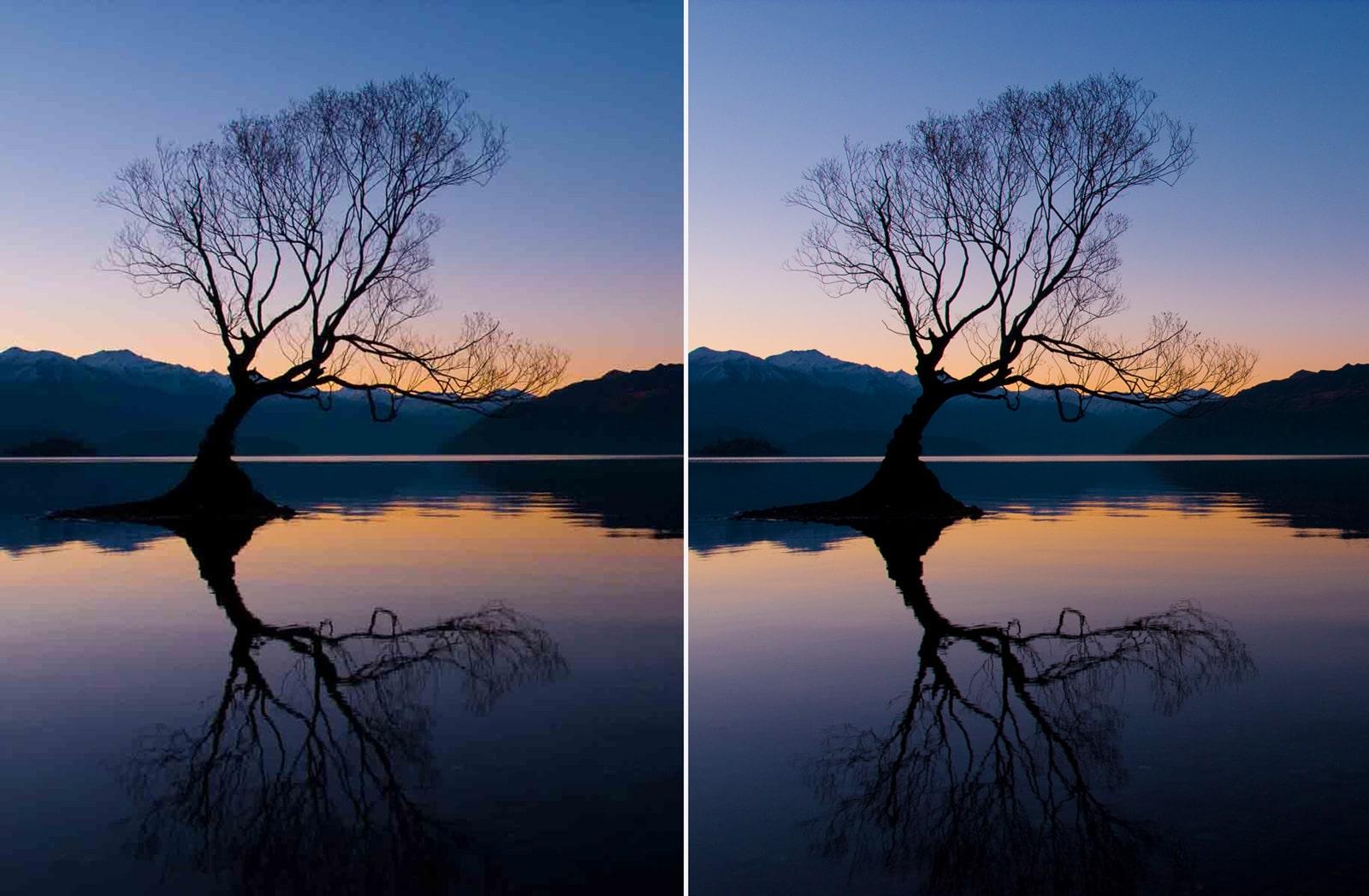Comparación de niveles de compresión de una imagen en jpg