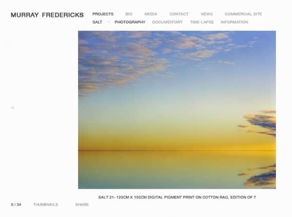 Web oficial de Murray Fredericks