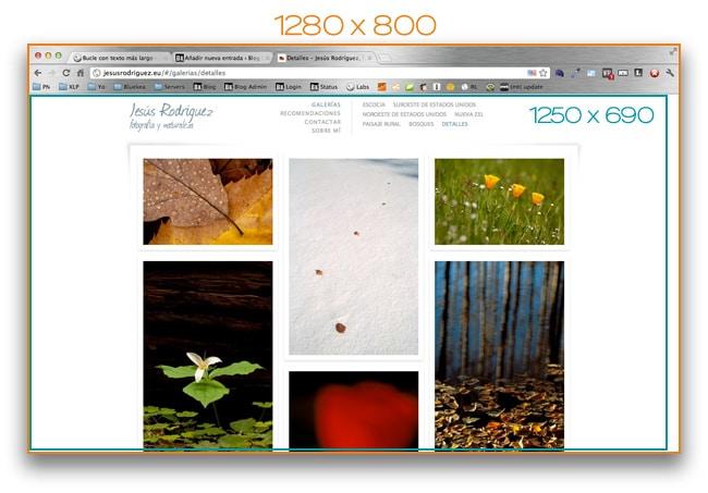 Diferentes tamaños de pantalla en una web Bluekea