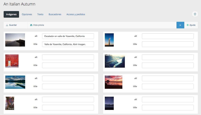 Etiquetas ALT y TITLE en imágenes en las web de Bluekea