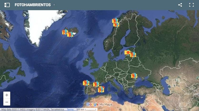 Mapa de localizaciones de Fotohambrientos
