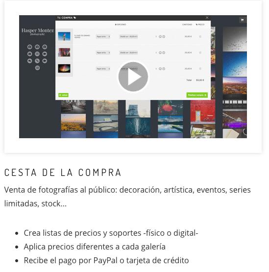 Sistema de venta de fotografías en Bluekea.com Consejos para vender fotos en tu web