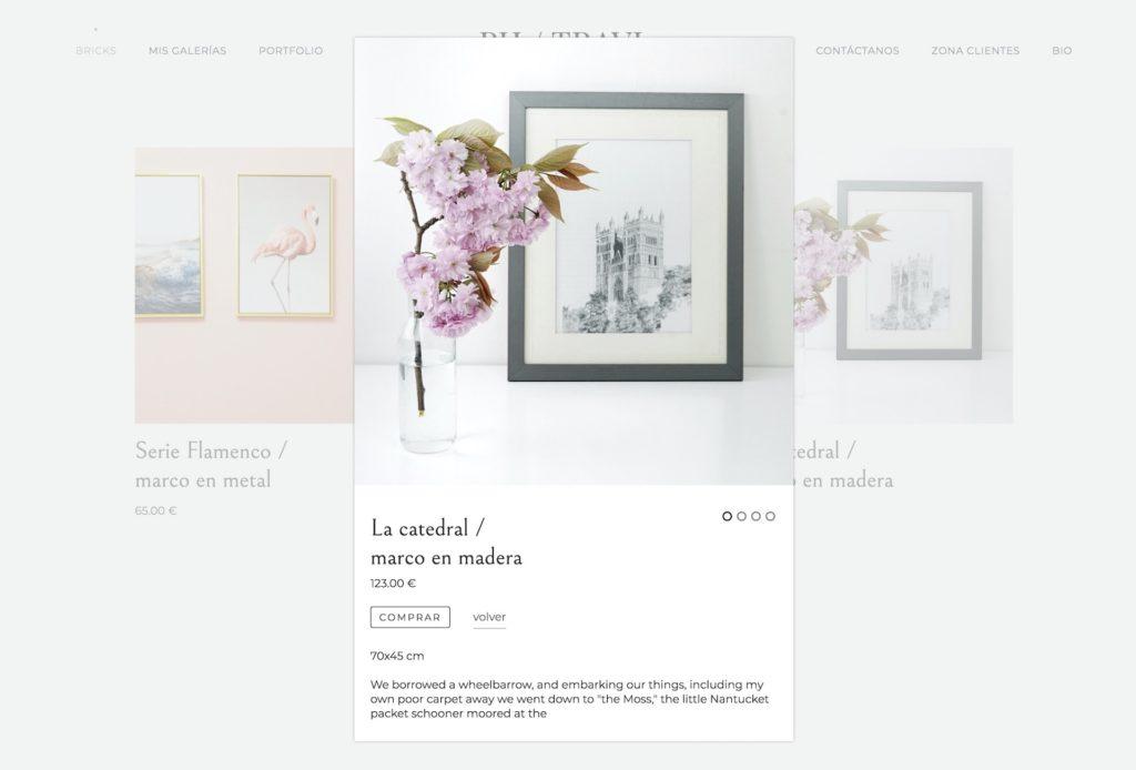 captura de módulo de tienda online en bluekea.