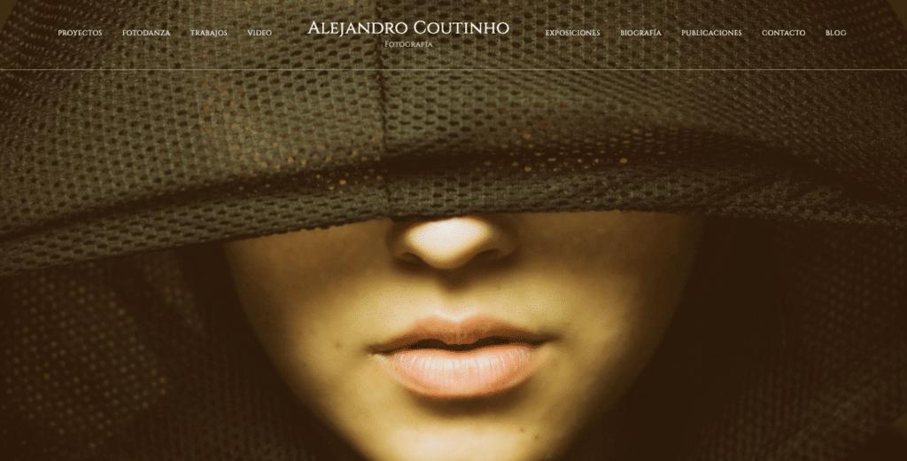 Portada página web de fotografía de Alejando Coutinho.